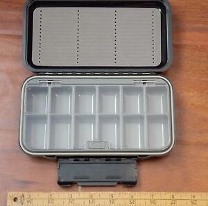 Fly fishing fly box slotted foam 12 compartment Waterproof NEW FREE SHIPPING