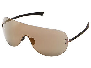 Under Armour UA Split Men's Sunglasses Satin Gunmetal Grey Frame Bronze Lens