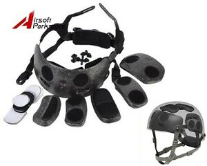 Tactical Helmet Dial Liner Kit for OPS-CORE FAST MICH Helmet Airsoft Black