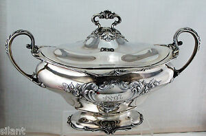 GORHAM Sterling Silver COVERED SOUP TUREEN or VEGETABLE DISH c.1896