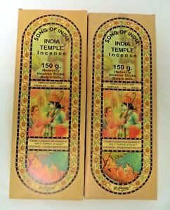 Song of India Incense Sticks: 300 Gram 2 x 150 XL Indian Temple Stick $17.95