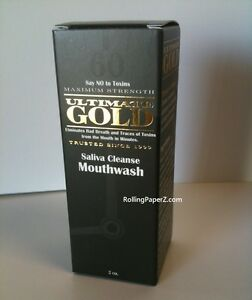 """ULTIMATE GOLD DETOXâ""""¢ Saliva Cleansing Mouth Wash Instant Acting LASTS 60 MINUTES $12.95"""