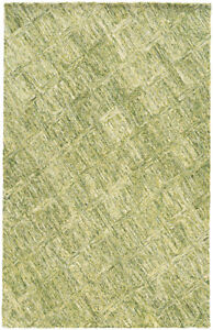 Pantone Universe Green Diamonds Boxes Lines Contemporary Area Rug Floral 42105