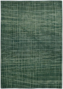 Pantone Universe Green Contemporary Lines Crosshatch Area Rug All-Over 5998G