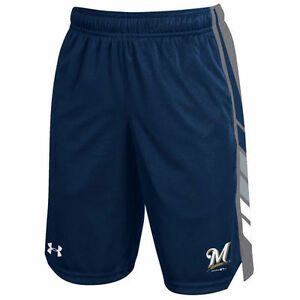 Milwaukee Brewers Under Armour Youth Select Shorts - Navy - MLB
