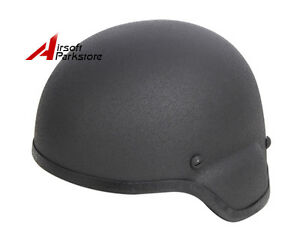 Black Tactical MICH 2000 ACH Glass Fiber Combat Helmet Airsoft Paintball Hunting