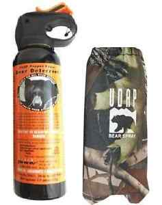 UDAP Pepper Power Bear Spray Repellant w Camouflage Camo Holster