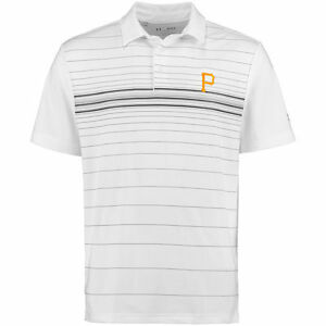 Pittsburgh Pirates Under Armour Maltby Printed Performance Polo - White - MLB
