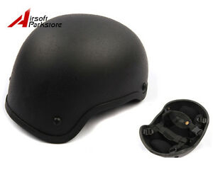Airsoft Tactical Military MICH ACH 2001 Combat Helmet Hunting Paintball Black