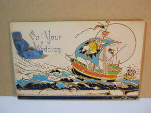 Antique On Your Wedding Card With Tall Ship T* $20.00