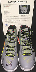 Stephen Curry Golden State Signed Under Armour Shoe Dub Nation JSA LETTER COA