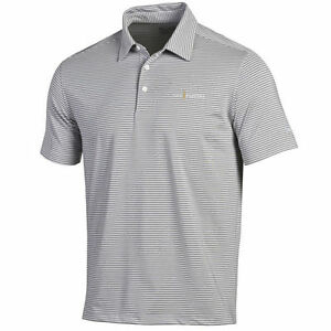 THE PLAYERS Under Armour Kirby Heathered Stripe Performance Polo - White
