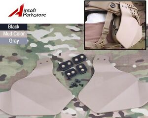 Tactical Ears Protective Side Soft Covers for Airsoft Fast Helmet Rail System DE