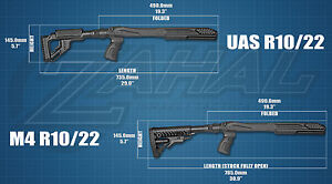 Fab Defense Tactical Stock for Ruger 1022 - ALL Variations