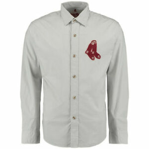 Boston Red Sox Red Jacket Knickerbocker Woven Long Sleeve Button-Up Shirt - MLB