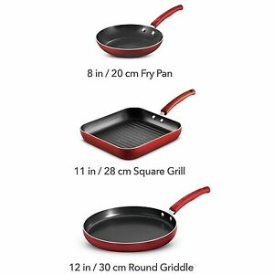 NEW NIB Tramontina Multi-Meal Non Stick Cookware Set (3 pc.)MADE IN USA