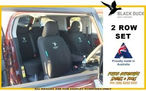 BLACK DUCK Canvas Seat Cover Set for Volkswagon Transporter T4 2001-2005