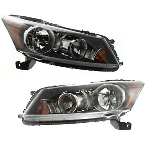 Factory Style Headlamps For 2008 2012 Honda Accord Sedan Headlights LeftRight $119.10