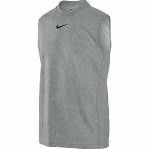 NIKE Boys Dri-FIT Sleeveless Training Shirt * HEATHER GRAYBLACK - Medium * NWT