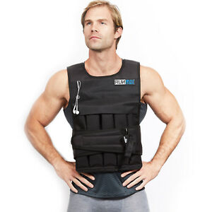 RUNMax 12lbs-140lbs Adjustable Weighted Workout Weight Vest Fitness - NEW