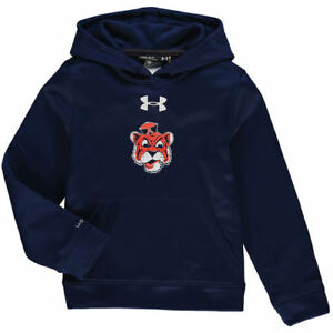 Auburn Tigers Under Armour Youth Armour Fleece Pullover Hoodie - Navy - NCAA