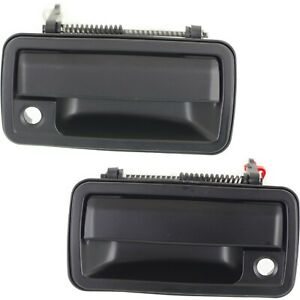 Door Handle Set For 1994-2004 Chevy S10 Front Outer Smooth Black 2Pc