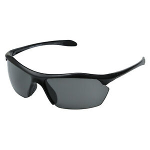Under Armour UA Zone XL Sunglasses Satin Black Frame Gray Lens UA8600023-4700