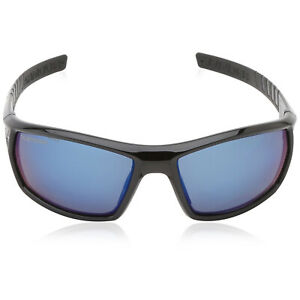 Under Armour UA Ranger Sunglasses Black Frame Blue Mirror Polarized ANSI Lenses