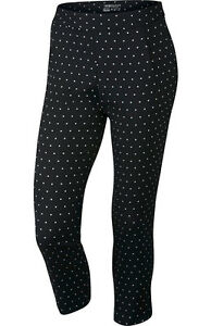 Nike Ladies Major Moment Dot Pants Black 10 - ladies golf shortsskirt