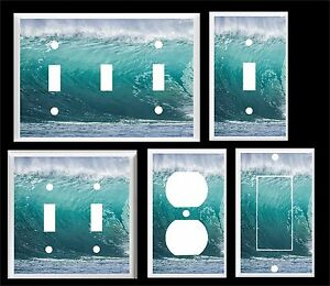 OCEAN WAVE #1  LIGHT SWITCH COVER PLATE