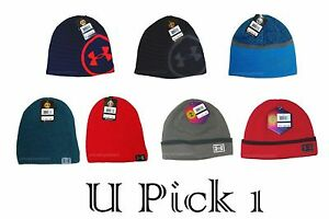 Under Armour Beanie Hat Mens Headwear Ski Snowboard Warm Cap Hunting Sports