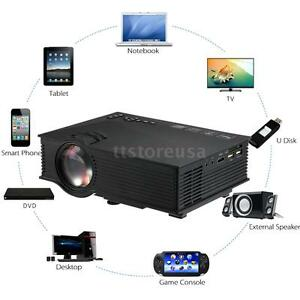 UC46 Wifi Full HD 1080P LED Video Projector Home Theater SD TVUSBVGAPC
