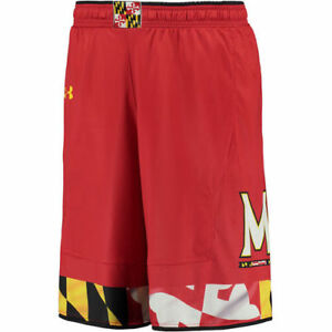 Maryland Terrapins Under Armour Replica Basketball Shorts - Red - NCAA