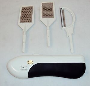 3 Piece Kitchen Multi-Tool ~ Battery Operated Peeler, Grater, & Zester Free Ship