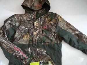 NWT Under Armour Women's XL Scent Control Gunpowder RealTree Jacket