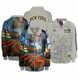 RARE~Adidas NEW YORK HOME COOKED Track NY sweat shirt Jacket superstar~Men sz XL
