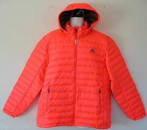 Adidas BASIC GOOSE JACKET Hoody Down Padded Hooded sweat Shirt winter~Mens sz XL