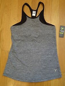 NWT Old Navy Active Go Dry Tank Top Shirt Fitted blue gray black Womens MEDIUM