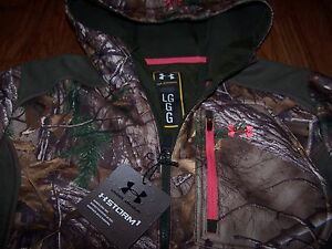 Under Armour Camo Ayton Hoodie Jacket STORM (Realtree Xtra) Women's Lg  NWT $150