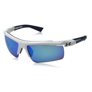 Under Armour Core 2.0 Shiny White Blue Multiflection Sunglasses