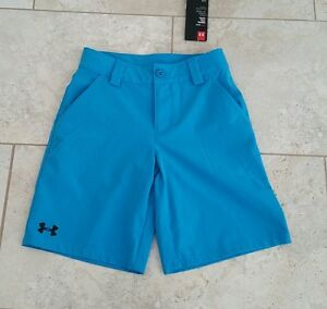New Under Armour Youth Boys Golf Pockets Loose Fit Shorts Pants  Small