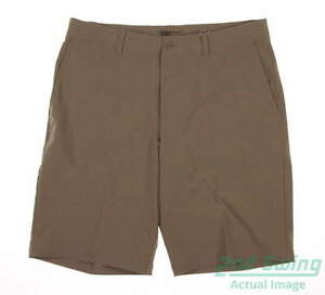 New Mens Nike Flat Front Stretch Woven Shorts Size 33 Khaki MSRP $85