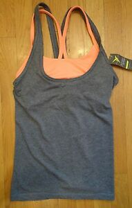 NWT Old Navy Active Go Dry Tank Top Shirt Semi-Fitted gray Womens XS XSMALL