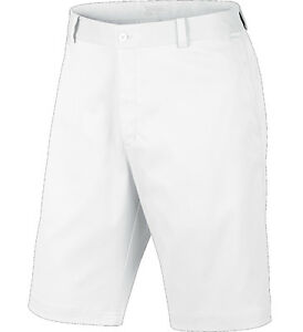 Nike Flat Front Golf Shorts White 33