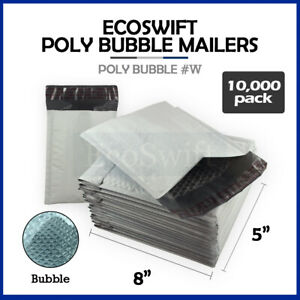 10000 #000 4x8 Self Seal Poly Bubble Padded Envelopes 5 x 8 X-Wide Mailers Bags