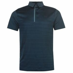 Under Armour Mens CoolSwitch Polo Shirt HeatGear Pattern Stripe Sports Tee