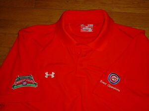 Under Armour Chicago Cubs Wrigley Field 100-Years Polo Shirt Orange XL AUTHENTIC