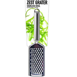 Zest Hand Grater Stainless Steel Lemon Lime Cheese Orange Cooking Utensils GBP 2.69