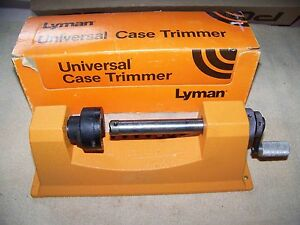 Lyman Universal Case Trimmer with box and 3 pilots