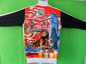 EXTRA RARE~Adidas CHICAGO CHITOWN Track sweat shirt Top Jacket superstar~Mens S~